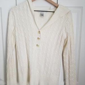Geoffrey Beene pull over hooded sweater Medium